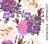 seamless pattern vector floral... | Shutterstock .eps vector #1089466247