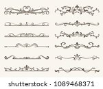vector set of decorative... | Shutterstock .eps vector #1089468371