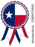 texas award ribbon vector in... | Shutterstock .eps vector #1089470981
