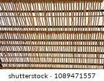 wooden latte roof  lath or... | Shutterstock . vector #1089471557