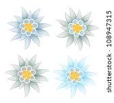 edelweiss  leontopodium alpinum  | Shutterstock . vector #108947315