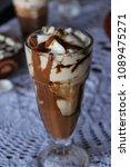 high caloric shake and frozen... | Shutterstock . vector #1089475271