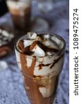high caloric shake and frozen... | Shutterstock . vector #1089475274