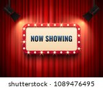 retro cinema or theater frame... | Shutterstock .eps vector #1089476495
