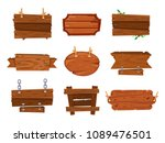 cartoon wood boards signs and... | Shutterstock .eps vector #1089476501