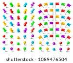 colors pushpin  navigation... | Shutterstock .eps vector #1089476504