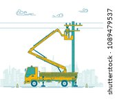Graphic Of Electric Pole And...