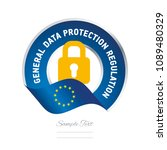 gdpr general data protection... | Shutterstock .eps vector #1089480329