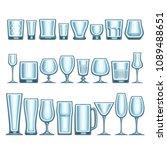 vector set of different... | Shutterstock .eps vector #1089488651