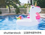 inflatable colorful white... | Shutterstock . vector #1089489494