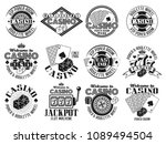 casino and gambling set of... | Shutterstock .eps vector #1089494504