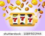 lucky seven slot machine and... | Shutterstock .eps vector #1089501944