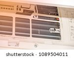 fin of  air condition. dust... | Shutterstock . vector #1089504011