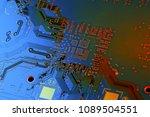electronic circuit board close... | Shutterstock . vector #1089504551