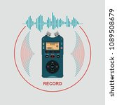 audio recorder for recording... | Shutterstock .eps vector #1089508679