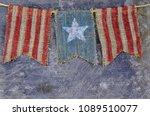 rustic memorial day image of...   Shutterstock . vector #1089510077