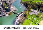 Aerial View Skyline Caernafon Historic - Fine Art prints