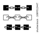 blockchain sign  icon. blocks... | Shutterstock .eps vector #1089512447