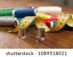 diy concept. sewing supplies ... | Shutterstock . vector #1089518021