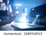 microchip  cpu  processor ... | Shutterstock . vector #1089518915