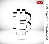 bitcoin icon vector  stock... | Shutterstock .eps vector #1089522641