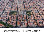 aerial view of barcelona... | Shutterstock . vector #1089525845