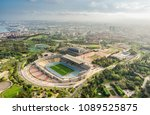barcelona aerial panorama ... | Shutterstock . vector #1089525875