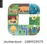 simple things   color   flat...   Shutterstock .eps vector #1089529079