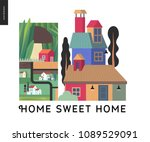 simple things   color   flat... | Shutterstock .eps vector #1089529091
