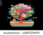 tree house concept   a tree... | Shutterstock .eps vector #1089529094