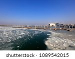 wharf winter scenery   | Shutterstock . vector #1089542015