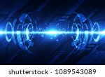 vector abstract futuristic high ... | Shutterstock .eps vector #1089543089
