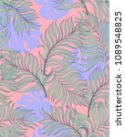 trendy tropical background with ... | Shutterstock .eps vector #1089548825
