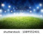 soccer field stadium in night... | Shutterstock . vector #1089552401