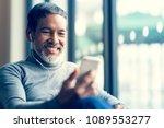 portrait smiling attractive... | Shutterstock . vector #1089553277