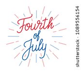 fourth of july. lettering logo... | Shutterstock .eps vector #1089556154