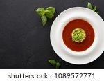 delicious tasty cold tomato... | Shutterstock . vector #1089572771