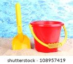 Children's Beach Toys On Sand...