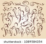set of decorative elements.... | Shutterstock .eps vector #1089584354