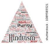 vector conceptual hinduism ... | Shutterstock .eps vector #1089585521