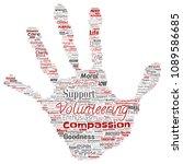 vector conceptual volunteering  ... | Shutterstock .eps vector #1089586685