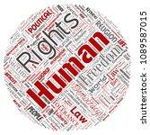vector conceptual human rights... | Shutterstock .eps vector #1089587015