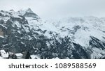 beautiful snow mountains... | Shutterstock . vector #1089588569