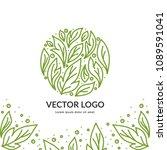 green vector emblem. can be...   Shutterstock .eps vector #1089591041