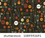collection seamless pattern of... | Shutterstock .eps vector #1089592691