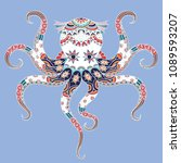 colorful octopus for design...   Shutterstock .eps vector #1089593207