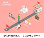 buyer journey flat isometric .... | Shutterstock . vector #1089594944