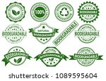 biodegradable rubber stamp... | Shutterstock .eps vector #1089595604