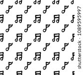 abstract music notes seamless... | Shutterstock .eps vector #1089595997