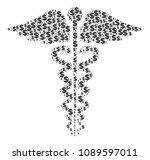 medical caduceus emblem collage ...   Shutterstock .eps vector #1089597011